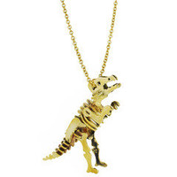 Monserat De Lucca — T-Rex Skeleton Brass Necklace