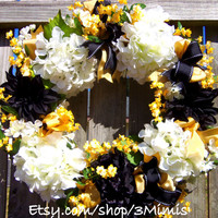 Hydrangea Wreath College Wreath University Of Central Florida WREATH UCF KNIGHTS