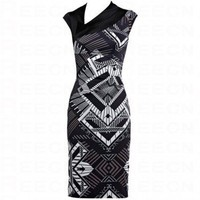 Bqueen Monochrome Dress K111E - Evening Dresses - Special Occasion Dresses - Apparel