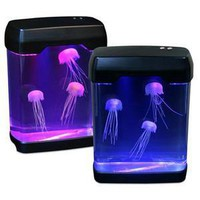 ThinkGeek :: LED Jellyfish Mood Lamp