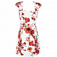 Bqueen Modern Shift Dress in Floral Print K099E - Evening Dresses - Special Occasion Dresses - Apparel