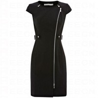 Bqueen Structured Zippy Pencil Dress K056H - Evening Dresses - Special Occasion Dresses - Apparel