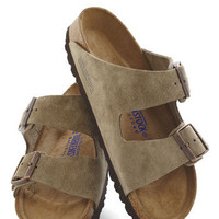 Strappy Camper Sandal in Taupe | Mod Retro Vintage Sandals | ModCloth.com