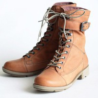 OTBT Clarksville military boots in rust