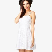 Eyelet Sweetheart Dress | FOREVER 21 - 2024827337