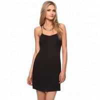 Bqueen Pleated Spaghetti Strap Dress Black F046H - Celebrity Dresses - Apparel