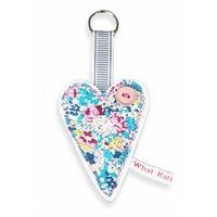 Buy Liberty Print Heart Leather Keyring