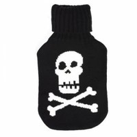 White Skull Hot Water Bottle - Gifts For Children from the gifted penguin UK
