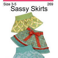 Little Girl Skirt Pattern size 3 to 5