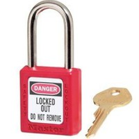 Master Lock 410KARED Keyed-Alike Safety Lockout Padlock, Red - Amazon.com