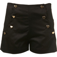 Petites Black High Waist Short