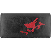 LAVISHY vegan leather sparrow large applique wallet