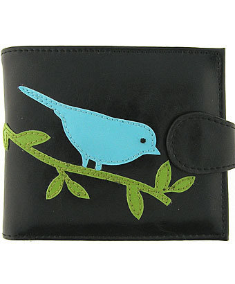 LAVISHY bird vegan medium wallet