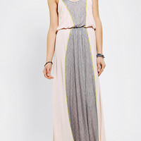 Pins And Needles Knit Lace Stripe Maxi Dress