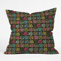 DENY Designs Home Accessories | Sharon Turner Sherbet Owls Outdoor Throw Pillow