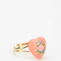 Painted Heart Ring