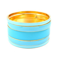 Stacked Greek Blue Bangle Set | Emma Stine Jewelry Bracelets