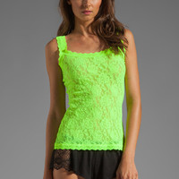 Hanky Panky Signature Lace Classic Unlined Cami in Apple Zing from REVOLVEclothing.com