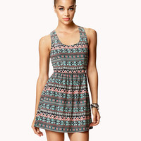 Tribal-Inspired Cutout Back Dress