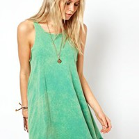 ASOS Swing Dress In Acid Wash at asos.com
