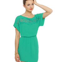Pretty Teal Dress - Turquoise Dress - Lace Dress - $44.50