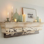 Floating rustic display shelf pottery barn style | rayscustomwoodwork - Woodworking on ArtFire