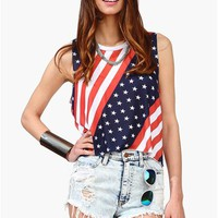 Party In The U.S.A Top - Blue/White