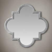 Weathered Zinc Single Fez Mirror
