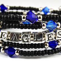 Custom Bracelet - Class of 2013  - Personalized Graduation Gift - Swarovski Crystals