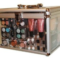 Shany Carry All Trunk Professional 48 pc. Makeup Kit, Gift Set,: Beauty