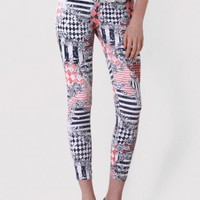 Baroque Print Legging in Coral