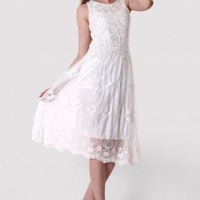 Maxi Crochet Lace White Dress