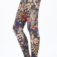 Floral Stitch Print Leggings