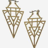 Topshop Geo Triangle Drop Earrings | Nordstrom