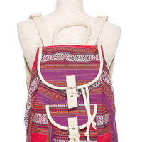Foreign Exchange :: LOOKBOOK :: FESTIVAL GLAM :: ORANGE TRIBAL PRINT BACKPACK
