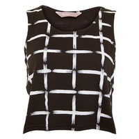 Print Crosses Print Crop Top