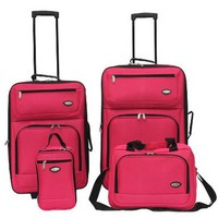 Hercules Jetlite 4-pc. Pink Upright Luggage Set WATERMELON PINK