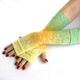 Mediterranean Meditation Arm Warmers / gloves - #Blue #Yellow #Orange  #Green #Gothic #Tribal  #Cyber #Rave #Fusion #Acid #gloves #fashion