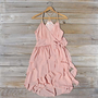 Sweet Ruffles Dress in Blush, Sweet Women's Bohemian Clothing