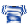 Stripe Bardot Crop - New In This Week  - New In