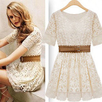 Cultivate one's moral character lace dress