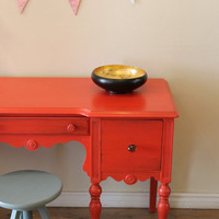 Coral desk/vanity by Poppyseedliving on Etsy
