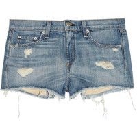 Rag &amp; bone JEAN|Mila distressed denim shorts|NET-A-PORTER.COM