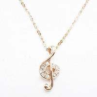 Music Symbol Necklace