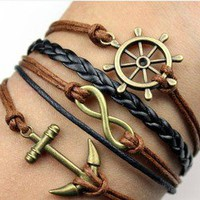 Infinity Anchors Rudders Bracelet