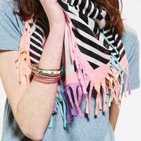 Geo Jersey-Fringe Scarf