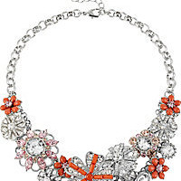 BetseyJohnson.com - CORAL FLOWER NECKLACE CORAL