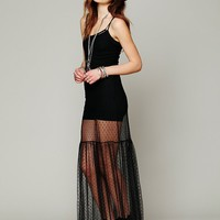 Free People Dot Mesh Maxi