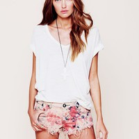 Free People One Teaspoon Tie Dye Denim Cutoff