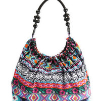 Charlotte Russe - Canvas Tribal Tote